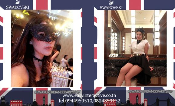 ให้เช่าปริ้นรูปจากinstagram งาน swarovskidanddparty2017 โรงแรม The Peninsula Bangkok
